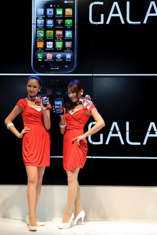 GALAXY SとGALAXY TABサイズ比較
