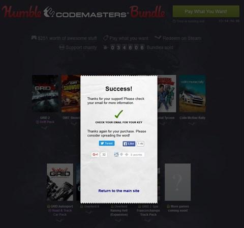 Humble Codemasters Bundle