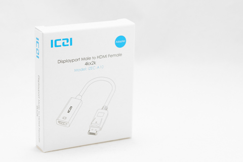 ICZI DisplayPort - HDMI アクティブ変換アダプタ 4K