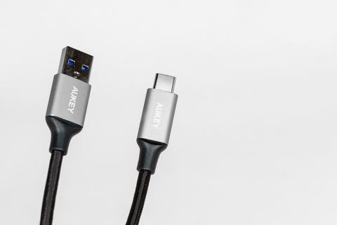 Aukey 5本セット USB3.0 to USB-C ケーブル (1m*3本+2m*1本+0.3m*1本)  CB-CMD2