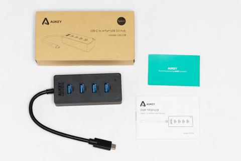 Aukey Type-C USB-C USB3.0 4ポート 高速ハブ 軽量 コンパクト CB-C28