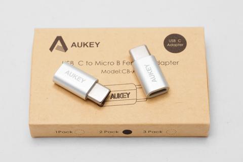 Aukey Micro USB → USB-C変換アダプタ CB-A9